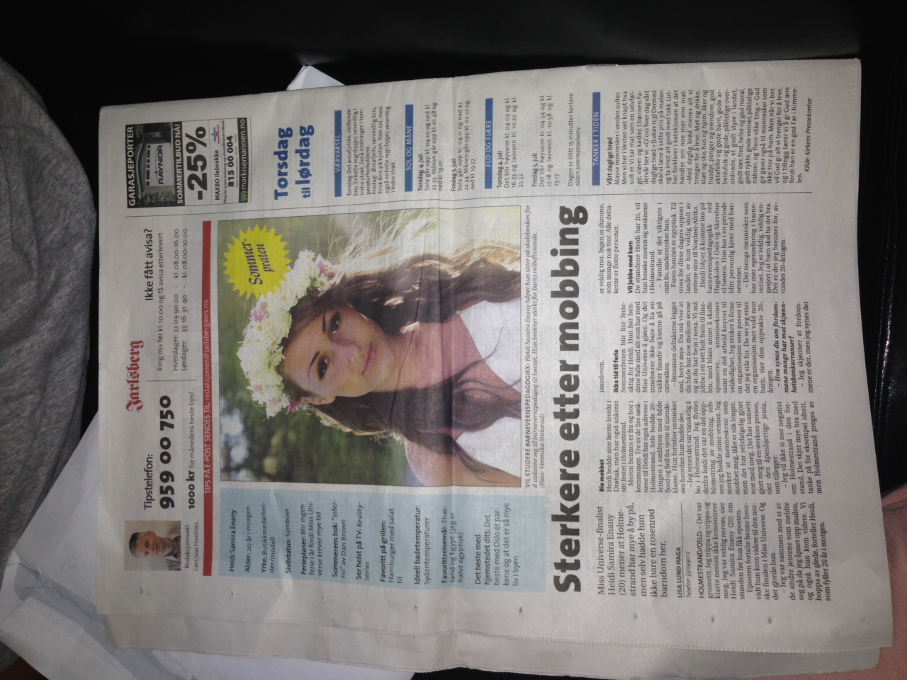 """""""Sterkere etter mobbing"""" - Jarlsberg avis"""
