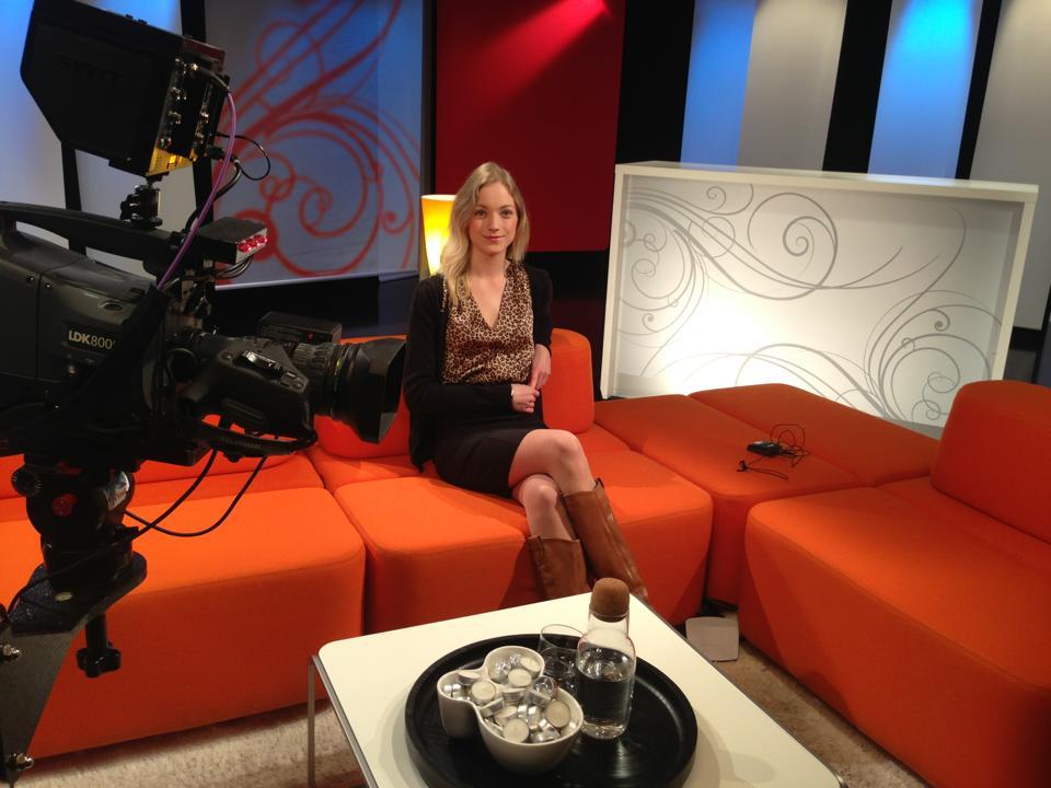 I studio til TV vest :)