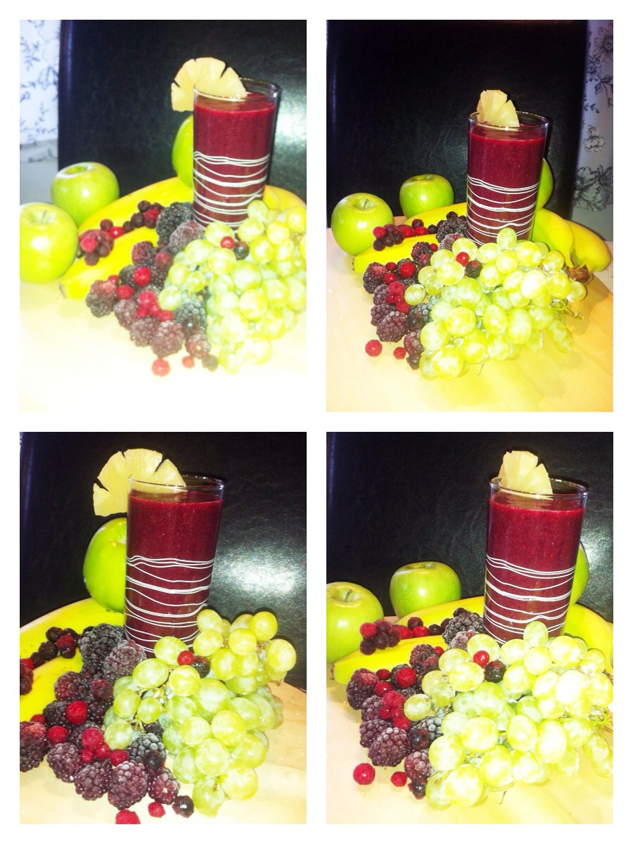 How To Make A Delicious colorful smoothie =)